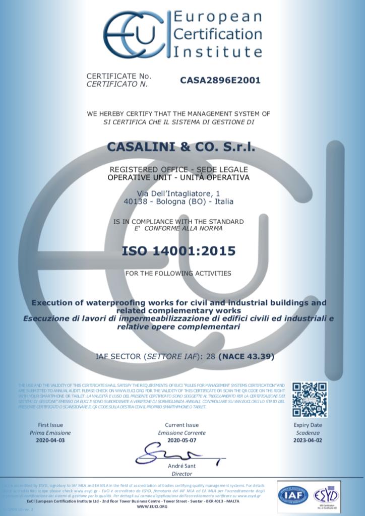 certificazione ISO casalini